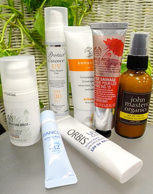 UV対策オーガニックコスメ商品